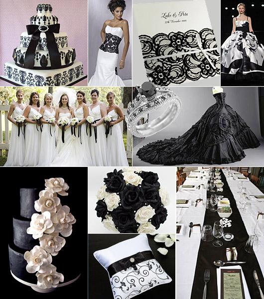 svart på bröllop