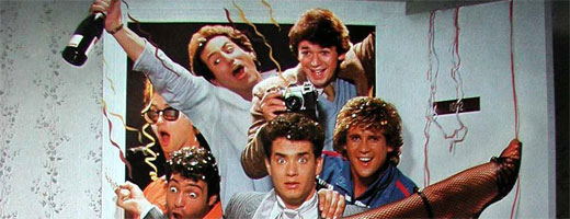 Bild från filmaffischen The Bachelor Party (Svensexan), 1984, med Tom Hanks