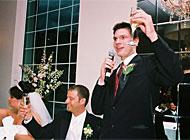 tacktal vid bröllopsmiddag