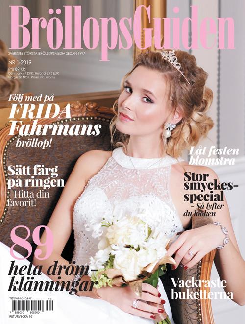 ade48486 BröllopsGuidens bröllopstidning i butik, på läsplatta, telefon och ...
