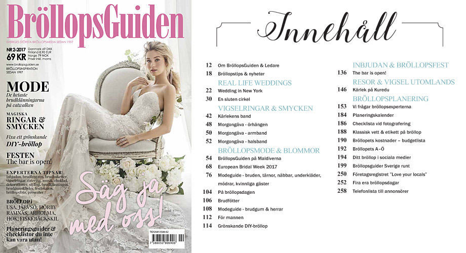 5f3176defabc BröllopsGuidens bröllopstidning i butik, på läsplatta, telefon och ...